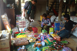 The number of distributing goods reached beyond 200 kinds