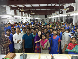 The number of employees exceeded 300 person in Bangladesh factory